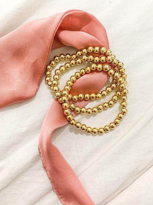 Gold Large Bead Beaded Set