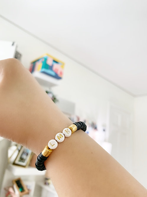 Custom Black & Gold Bracelet
