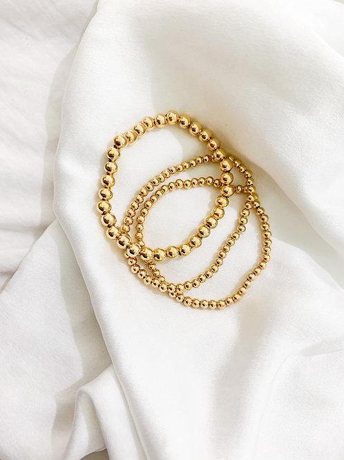 Big & Small Gold Beaded Set