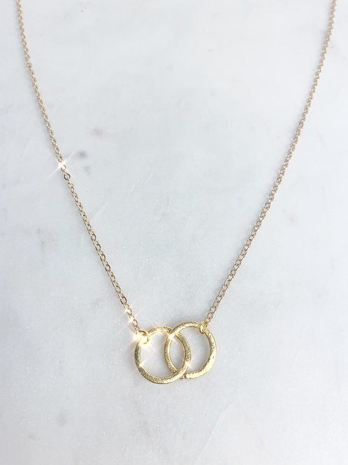 intertwined love necklace