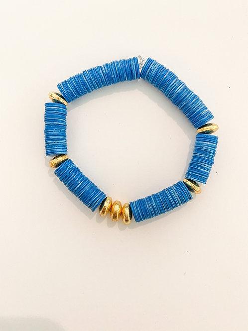 Baby Blue Heishi Bracelet