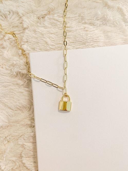 Lock Drop Necklace