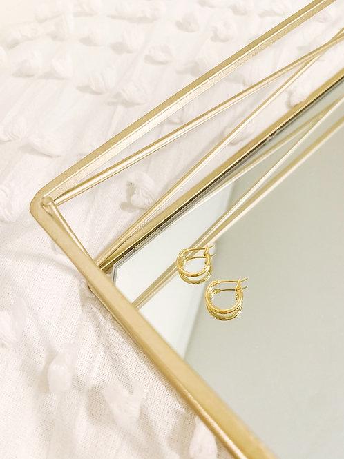 Plain Gold Huggie Hoops