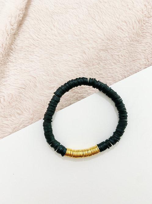 Black & Gold Single Bracelet
