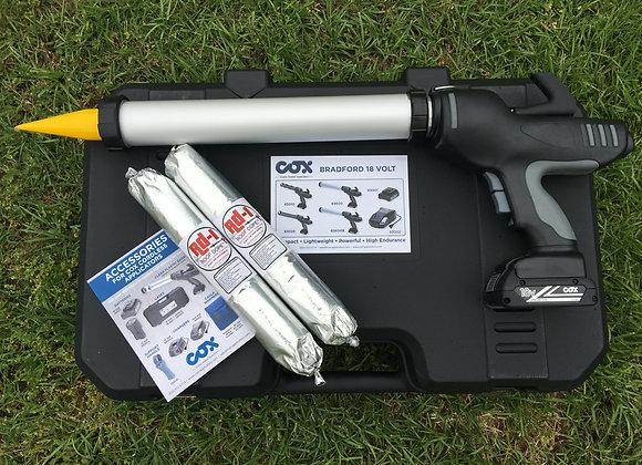 BRADFORD 18V CORDLESS SAUSAGE GUN KIT - COMPLETE!