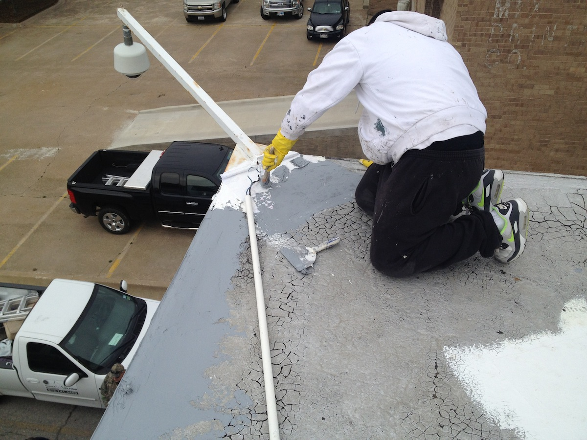 PERIMETER EDGE REPAIR ON BUR ROOF