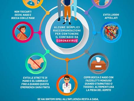 Misure Preventive per la Riduzione del Rischio di Diffusione del Coronavirus