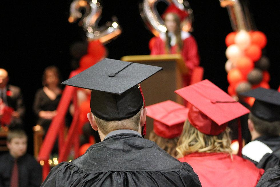 Graduating senior with cap