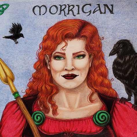 Full color Morrigan