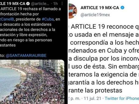 Artículo 19 se disculpa por atribuir fotografía de las manifestaciones de El Cairo a Cuba