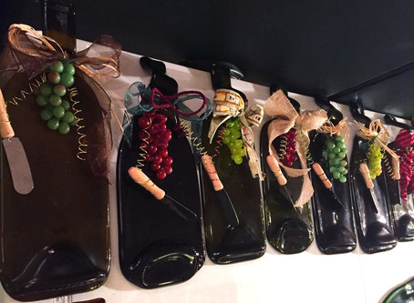 Upcycled Wine Bottles - Before and After!!