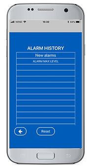 App Express Elentek alarms history