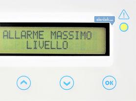 Visualizzazione messaggi e stato di allarmi a fronte quadro display Drytek Elentek