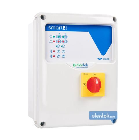 Quadro elettronico per 2 pompe pressurizzazione, drenaggio, irrigazione Smart Evo 2 Elentek