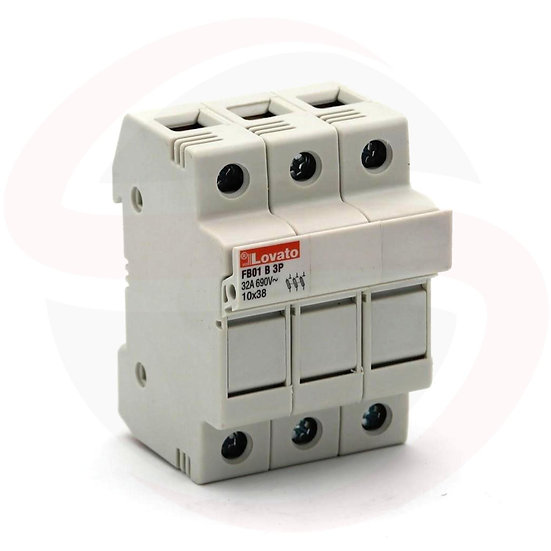 FB01B3P - Portafusibili sezionabili 3P 10x38mm