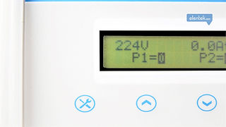 Indicazioni funzionamento su display a fronte quadro Express Elentek