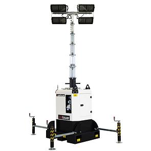 Basetower - Torre de luz sin motor con luces Multiled 4x320W