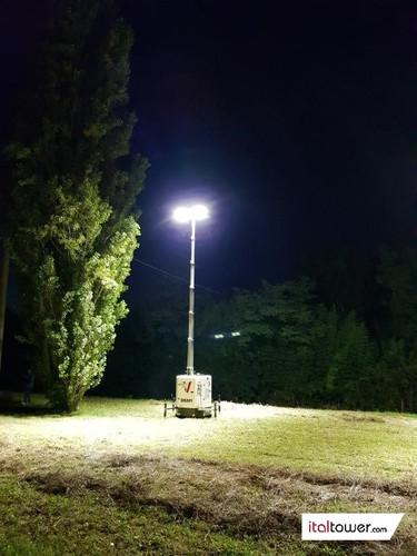 Torre Faro Okapi applicazione notturna