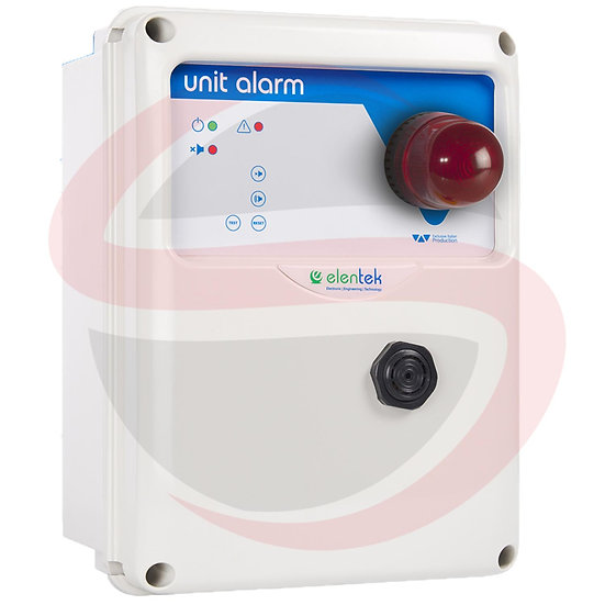 Quadro di allarme acustico/visivo con batteria in tampone UNIT ALARM 2