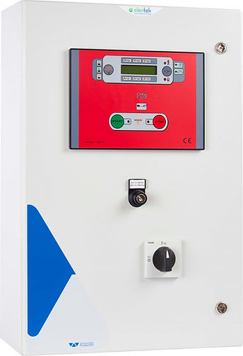 Control panel for EN12845 electric pumps