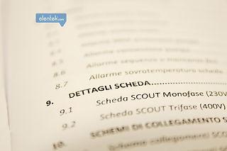 Manuale di istruzioni impostazioni quadro elettrico Scout Elentek