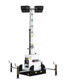 Orus - Torre de luz sin motor con luces Multiled 4x160W