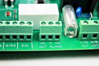 Uscite allarme scheda elettronica Smart Evo