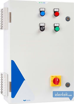 Quadro con soft start per avviamento pompe e protezione amperometrica