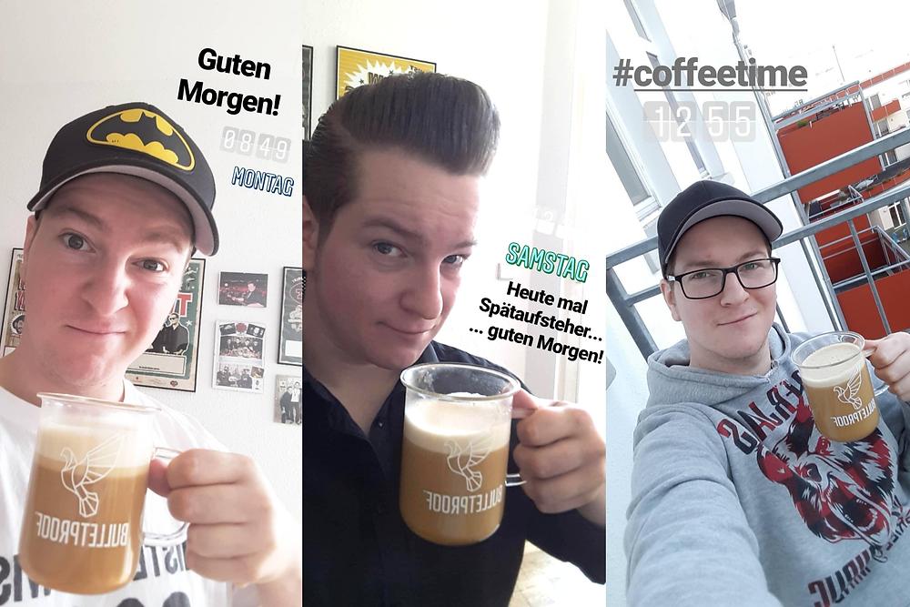 Zap-O! trinkt Bulletproof Coffee