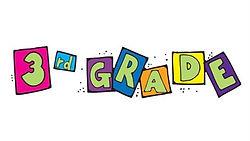 Number 3 and letter blocks spelling grade