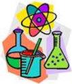 test tubes and an atom