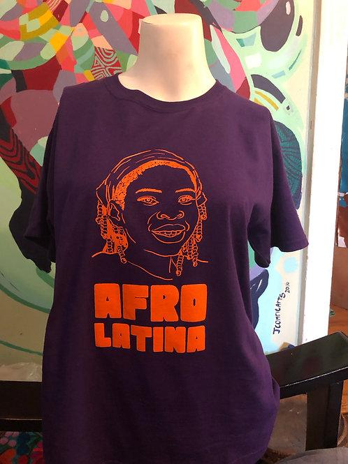 AfroLatina Purple Shirt