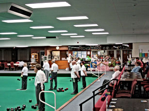 Sleaford indoor bowls club match