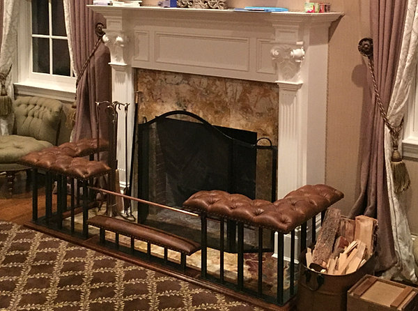 Images of Club Fender Fireplace Benches