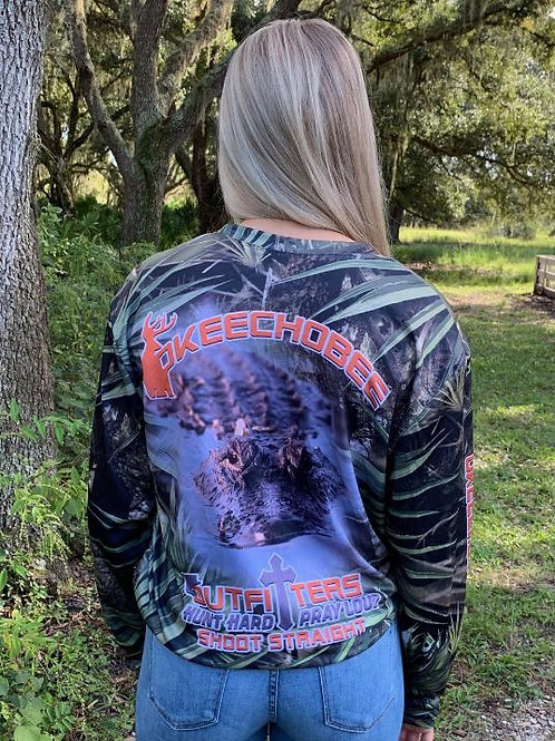 Okeechobee Outfitters Alligator Long Sleeve Shirt
