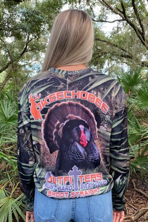 Okeechobee Outfitters Wild Turkey Long Sleeve Shirt