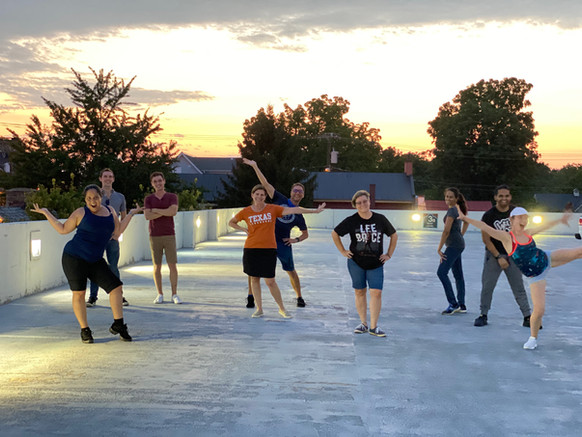 Group class on the roof top