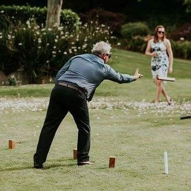 Kubb...the vikings game of chess!! A challenging game!! Hire with _sweetaggie_tlvc one of many games