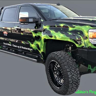 Green Flame Servpro Denver East Truck