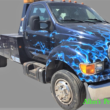 I-70 Tow Blue Flame Truck