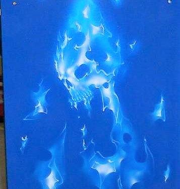 Blue Skull Tool Box