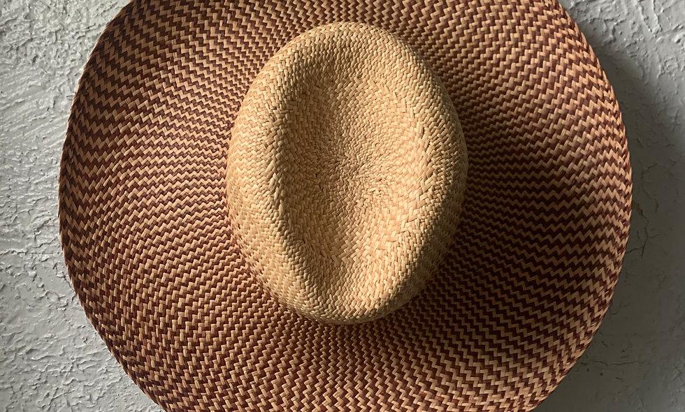 ASHAKA GIVENS PANAMA STRAW FEDORA Natural Gradient
