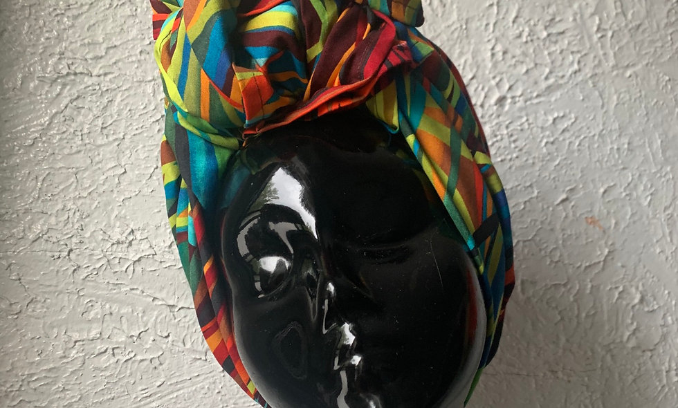 The ASHAKA GIVENS Printed Head Wrap