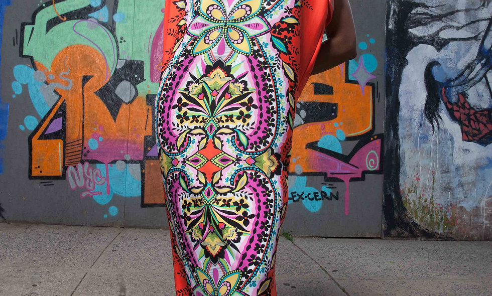 La Belle Afrique Maxi Dress