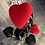 Thumbnail: Heart Shaped Fascinator with Detachable Veiling