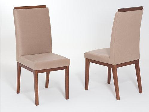 Cadeira Anita com detalhe em madeira
