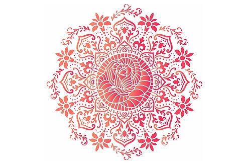 Mandala rosa de saron