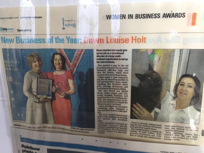 Women in Business Award Winner 2017