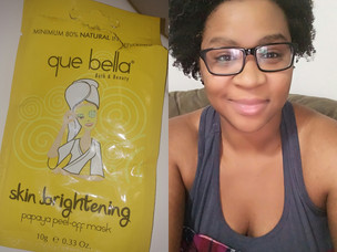 Product Review Que Bella Papaya Peel -Off Mask