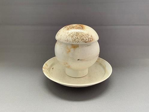 マーブル スープ碗 (台皿付)【10セット入り】